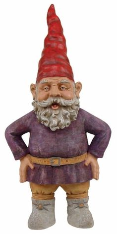 if you were wondering what anthony hopkins looked like as a garden gnome....there you have it. $149.95