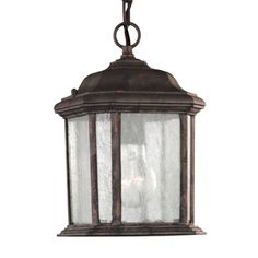 Kent 10.5-in Oxford Bronze Outdoor Pendant Light