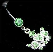 Crystal Crown Heart Belly Ring
