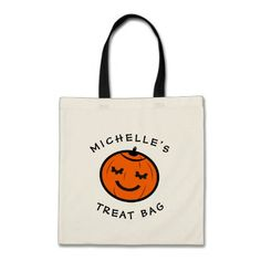 Cute Pumpkin Kid S Trick Or Treat Tote Bag Click Tap To Personalize And Kids Children