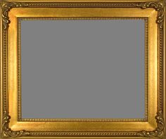 """Picture Frame Wood Ornate Beautiful Carved Gold Wedding Photo Art 3"""" Wide 