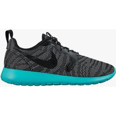 Nike Womens Roshe Run Jacquard ($99) ❤ liked on Polyvore featuring shoes, athletic shoes, sneakers, workout, nike, nike footwear, light weight shoes, retro shoes and waffle shoes