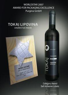 tokaj, slovakia - worldstar 2007 award Wine Tourism, Wine Making, Vodka Bottle, Wine Pairings