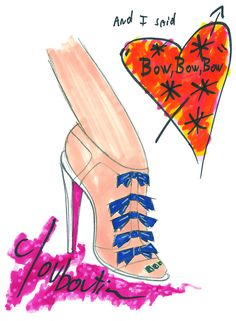 Illustration by Christian Louboutin.