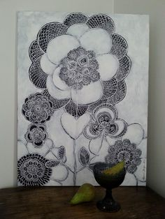 Painting by Hammi´s Design. Lace Painting, Paintings, Design, Paint, Painting Art, Painting, Painted Canvas, Drawings
