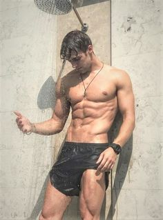 Sexy Hunks Teasing In Shower