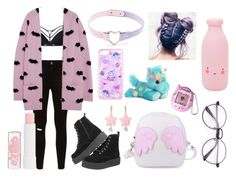 """""""Pastel goth"""" by daddys-little-girl402 ❤ liked on Polyvore featuring Marlies Dekkers, Zoe Karssen, T.U.K. and Barry M"""