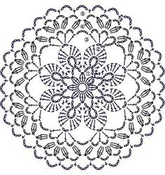 Trendy ideas for crochet blanket flower ganchillo Crochet Doily Patterns, Crochet Diagram, Crochet Chart, Crochet Designs, Crochet Doilies, Crochet Flowers, Crochet Stitches, Crochet Home, Crochet Granny