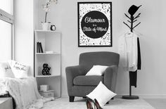 Glamour is a State of Mind Printable Art - Glam Fa Glam Bedroom, Bedroom Wall, Bedroom Decor, Bedroom Ideas, Teen Bedroom, Bedroom Inspiration, Wall Decor, Master Bedrooms, Bedroom Inspo