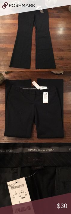 """NWT Express Design Studio """"Stylist"""" Pants Ultra Low Rise - Straight & Slim through Hip - Slight Flare NWT Express Pants Boot Cut & Flare"""