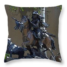 "The Patriot Throw Pillow 14"" x 14"""