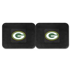 Green Bay Packers Backseat Utility Mats 2 Pack 14x17 - Boast your team colors with backseat utility mats by FANMATS. High quality and durable rubber construction with your favorite team's logo permanently molded in the center. Non-skid backing ensures a rugged and safe product. Due to its versatile design utility mats can be used as automotive rear floor mats for cars, trucks, and SUVs, door mats, or workbench mats. Now comes in a 2 Pack!FANMATS Series: 2UTILITYTeam Series: NFL - Green Bay…