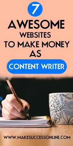 Are you a content writer and want to make money online? then these 7 websites are the best option for you. If you want to be a freelance content writer and want to make money online then this could be the best option for you. BE YOUR OWN BOSS! Make Quick Money, How To Get Money, Make Money Online, Earn Money, English Writing Skills, Blog Writing, Writing Ideas, Freelance Writing Jobs, Freelance Websites