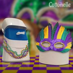 For the freshest Mardi Gras party this side of the bathroom, invite Cottonelle Toilet Paper and Flushable Wipes.