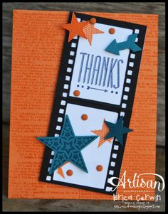 Simply Stars, Hip Notes, Dictionary and On Film Framelits all by Stampin' Up http://pinkbuckaroodesigns.blogspot.com/2014/04/simply-stars.html