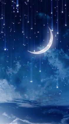 Discovered by Pblanco. Find images and videos about sky, wallpaper and night on We Heart It - the app to get lost in what you love. Galaxy Wallpaper, Wallpaper Backgrounds, Cute Wallpapers, Phone Wallpapers, Beautiful Moon, Simply Beautiful, Moon Art, Nocturne, Stars And Moon