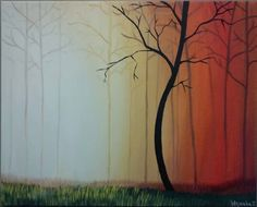 """A Walk In the Forest"" - Acrylic Painting by: Wajeeha Zaheer"