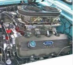 Ford dual quad 427 SOHC engine.