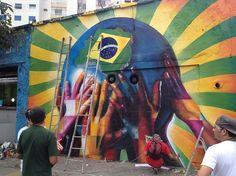 Novo trabalho de Eduardo Kobra em homenagem aos manifestantes dos recentes protestos pelo Brasil.