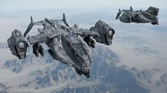 ArtStation - SF_GR 50 Heavy Dropship, Stephane Chasseloup