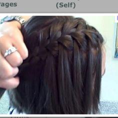 Waterfall braid!! Cute