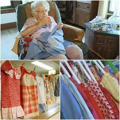 Smart 99 year old grandmother sews clothes for poor children, and it still enjoys it