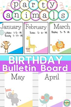 Farmhouse Inspired Birthday Banner Bulletin Board