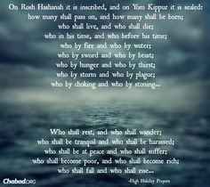rosh hashanah prayers and stories
