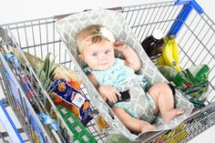 Binxy Baby Shopping Cart Hammock- Multiple Colors - Cute as a Button Baby Boutique - 1