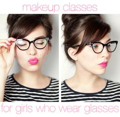 Loving this make-up tutorial just for girls who wear glasses from Keiko of Keiko Lynn.