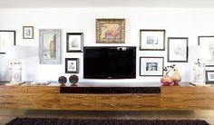 Art wall around the TV