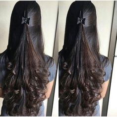 Nice hair idea for long curls Nice hair idea for long curls Indian Hairstyles, Bride Hairstyles, Hairstyles Haircuts, Cool Hairstyles, Hairstyles Videos, Wedge Hairstyles, Medium Hair Styles, Curly Hair Styles, Haircuts Straight Hair