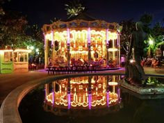 Cannes Merry-go-round at night