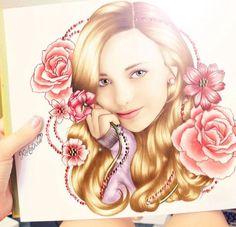 Kristina Webb- drawing of Peyton List. Beautiful!
