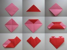 Origami Heart Picture Tutorial