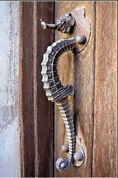 seahorse front door handle....perfect for a beach house