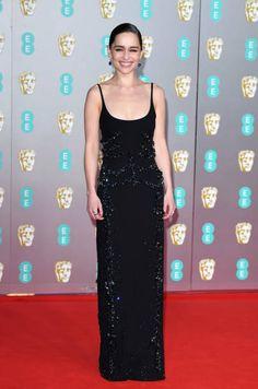 British Academy Film Awards, Royal Albert Hall, Emilia Clarke, Still Image, Red Carpet, Presentation, Formal Dresses, Black, Fashion