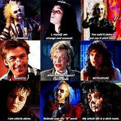 One My Favorites Beetlejuice Quotes, Beetlejuice Movie, Beetlejuice Costume, Tim Burton Films, Johnny Depp Movies, B Words, Michael Keaton, Famous Books, Film Inspiration