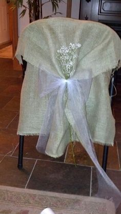 DIY Chair Covers For Metal Folding Chairs, Fabric Instead Of The Burlap