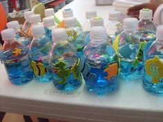 This would be a cute craft project for early learners: Oceans in a bottle!