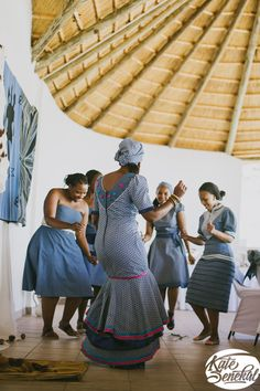 Traditional African clothing & shweshwe dresses All a babe needs is an commodity of Traditional African clothing with the appropriate Xhosa Attire, African Attire, African Dress, Traditional African Clothing, Traditional Outfits, Traditional Wedding, Traditional Decor, African Print Fashion, African Fashion Dresses