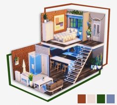 Sims Acne Cure For Sure! Sims 4 House Plans, Sims 4 House Building, Building Games, Sims 4 Houses Layout, House Layouts, Sims 4 House Design, Tiny House Design, Sims 4 Loft, Sims 3