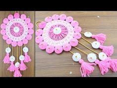 How To Make Innovative Woolen Door Hanging Design Door Hanging Decorations, Woolen Craft, Sewing Hacks, Handicraft, Crochet Earrings, Wall Decor, Diy Crafts, Youtube, Doors