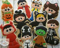 Decorated Halloween Cookies