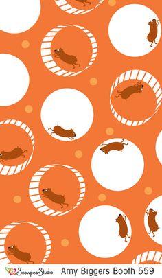 print & pattern hamster wheel