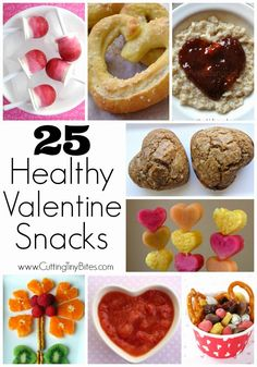 25 Healthy Valentine Snacks.  Skip the candy, cookies, and extra sugar!  There are PLENTY of HEALTHY Valentine treat options for kids!