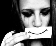 I love this picture as the model is sad but is hiding behind a fake smile. Theres a lot of emotion in this picture. The lighting is also really good as it is only lighting her face. Melencolia I, Crying Shame, Fake Smile, Sad Girl, Girl Smile, Just Girly Things, Jim Morrison, Picsart, We Heart It