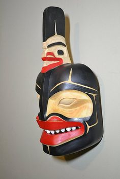 killerwhale with teeth same mask as other pic North Coast, West Coast, John Wilson, Great North, Inuit Art, Tlingit, Indigenous Art, Native American Art, First Nations