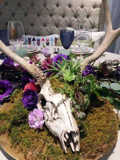 Deer Skull Succulent Garden