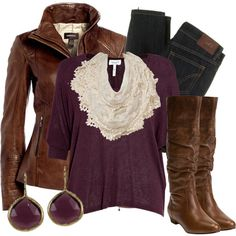 Different scarf and earrings then it would be the perfect outfit for a girls day out!